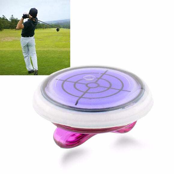 Amazing Hat Clip Golf Ball Marker with Slope Putting Level Reading