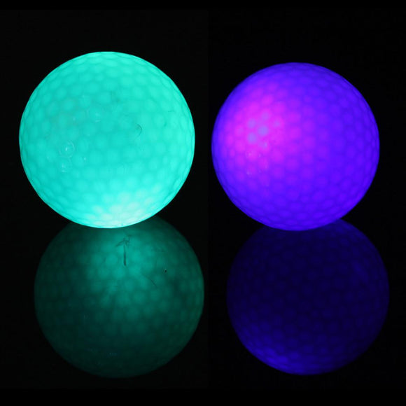 Two Pieces of Marvelous Luminous Golf Balls for Practice at Night