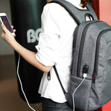 2017 Contemporary Light Weight Slim Unisex Backpack with External USB Port (TB3090A/TB3090A USB)