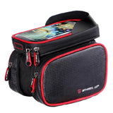 MSC 6.2 Inch Waterproof Double Zipper Touch Screen MTB Frame Top Tube Bag