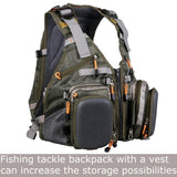 MSC Top Quality Army Fly Fishing Strap Vest