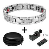 Stylish Bio-Energy Magnetic Therapy Bracelet G4 Series For Men (SBRM10242)