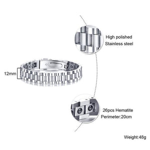 Hematite Magnetic Therapy Bracelet for Men and Women (SBRM160R)