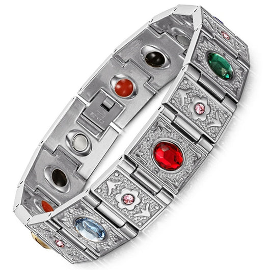 Fashionable 4-in-1 Magnetic Therapy Bracelet - Unisex (SBRM1747)