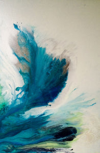 "#101 Abstract 24""x36"" SOLD"