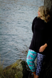 Hannah Stone Original Art Becky Bees Leggings