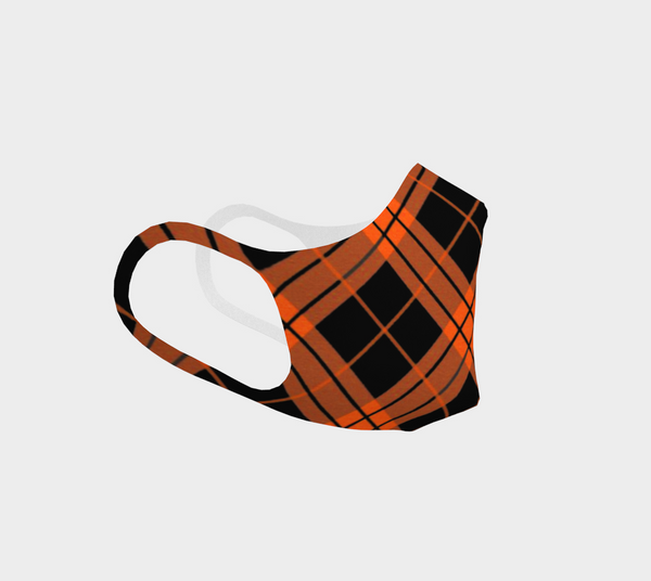 Orange and Black Tartan