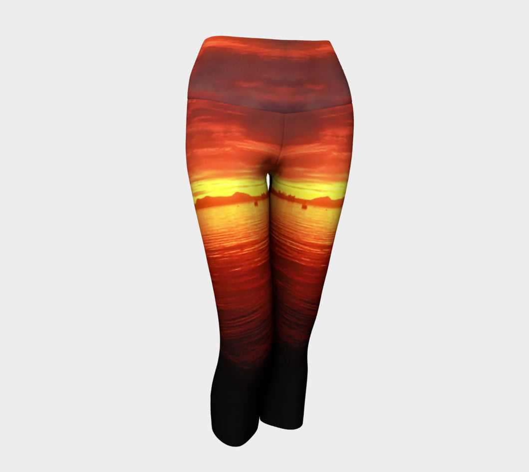 Hannah Stone Original Art Vesuvias Beach Leggings