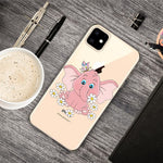 Husa Fusion Pattern Printing Clear Phone Cover iPhone 11 Elephant