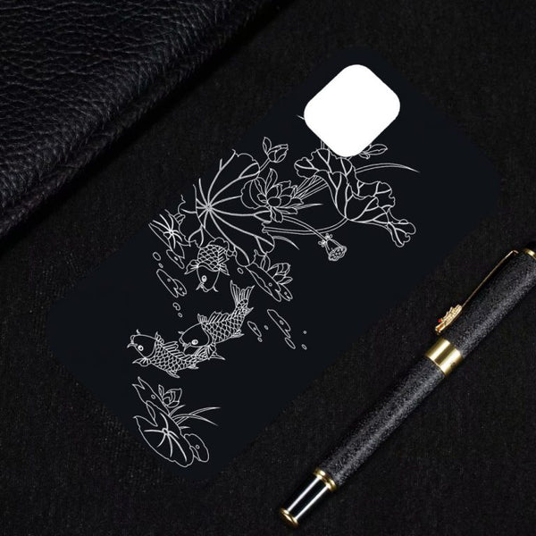 Husa Fusion Pattern Printing Embossment Soft TPU Case iPhone 11