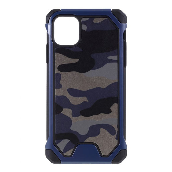 Husa Fusion Camouflage Leather Coated PC TPU Protective Phone Cover Case for iPhone 11