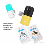 ADAPTOR LIGHTNING SPLITTER TO 2 X LIGHTNING PILL BLACK/YELLOW