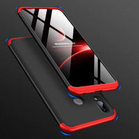 360 Protectie Fata si Spate Full Body pentru Huawei Honor Play black-red Guardo.shop