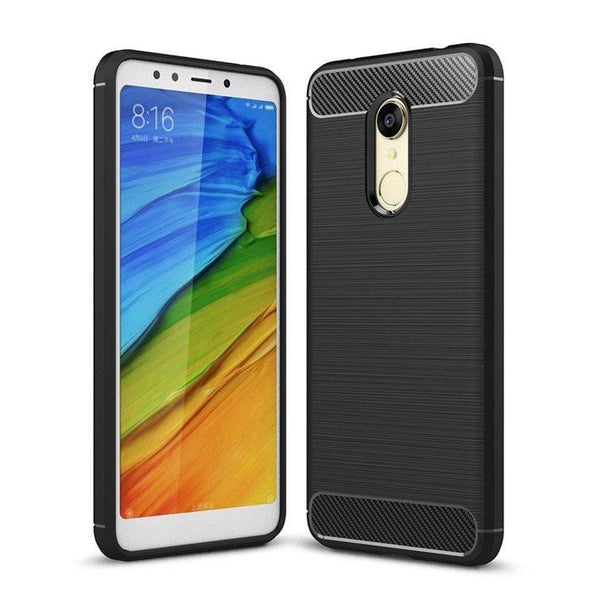 Husa Carbon Flexible Cover TPU pentru Xiaomi Redmi 5 Plus / Redmi Note 5 (single camera) black