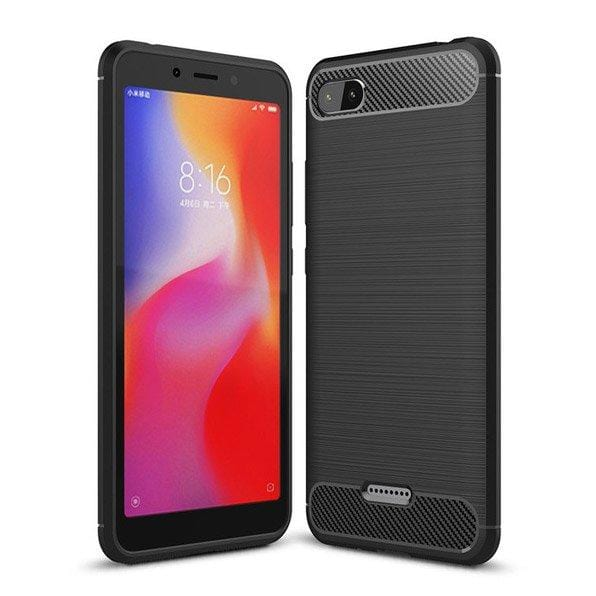 Husa Carbon Case Flexibila Tpu Xiaomi Redmi 6A Black