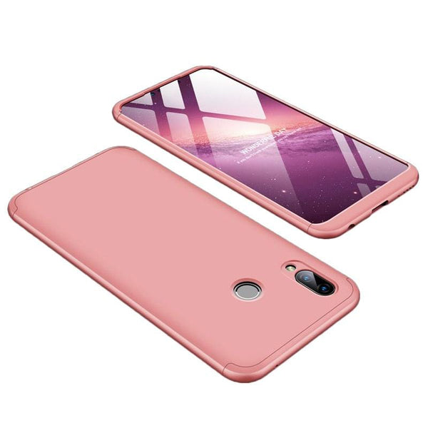 360 Protectie Fata si Spate Full Body pentru Huawei Honor Play pink