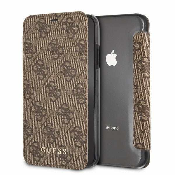 Husa Guess GUFLBKI65GF4GBR iPhone Xs Max brown 4G Charms Collection