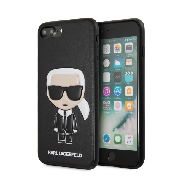 Husa Karl Lagerfeld KLHCI8LIKPUBK iPhone 7/8 Plus black Iconic Karl Embossed