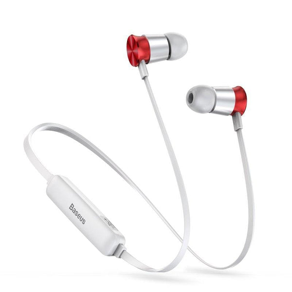 Casti Baseus Encok Sports S07 Wireless In-Ear Bluetooth 60 mAh silver-red (NGS07-S9)