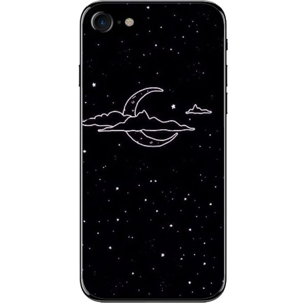 Husă Black Night Moon APPLE Iphone 8-Guardo.shop-Guardo.shop