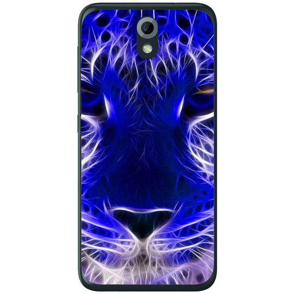Husă Blue Neon Lion HTC Desire 620g-Husa-Guardo.shop