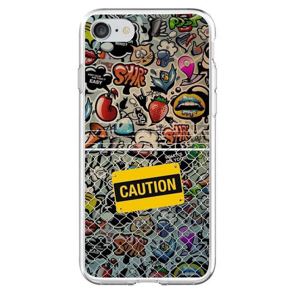Husă Caution Pattern APPLE Iphone 7-Guardo.shop-Guardo.shop