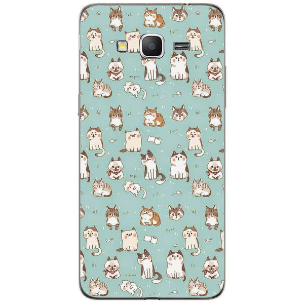 Husă Cute Cats Pattern SAMSUNG Galaxy Grand Prime-Husa-Guardo.shop