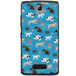 Husă Dog Pattern Lenovo A1000 Vibe A-Husa-Guardo.shop