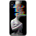 Husă Glitch Art White APPLE Iphone X-Guardo.shop-Guardo.shop