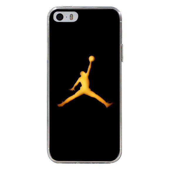 Husă Golden Jordan Logo APPLE Iphone 5-Husa-Guardo.shop