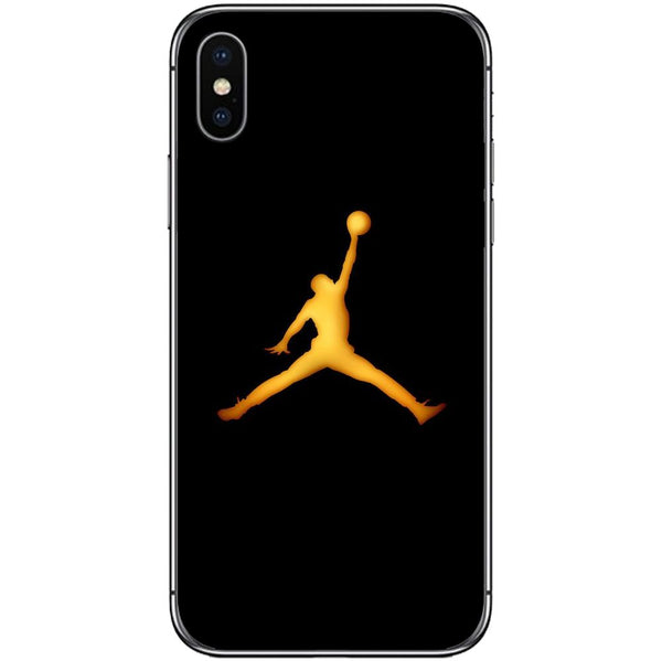 Husă Golden Jordan Logo APPLE Iphone X-Guardo.shop-Guardo.shop