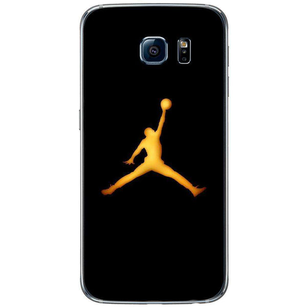 Husă Golden Jordan Logo SAMSUNG Galaxy S6-Husa-Guardo.shop