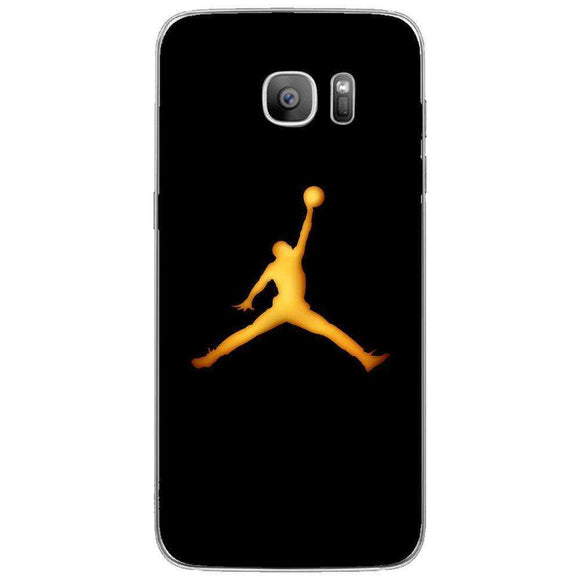 Husă Golden Jordan Logo SAMSUNG Galaxy S7 Edge-Husa-Guardo.shop