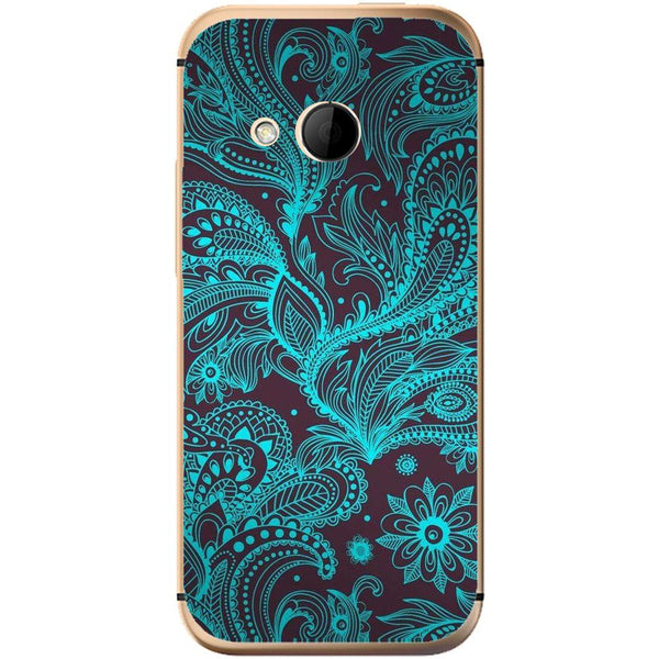 Husă Neon Floral Pattern HTC One Mini 2-Guardo.shop-Guardo.shop
