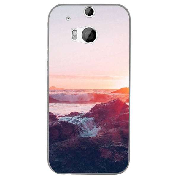 Husă Pink Sunset Mountain HTC One M8-Guardo.shop-Guardo.shop