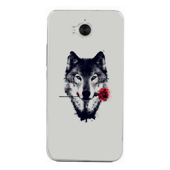 Husă Rose Wolf HUAWEI Y6 2017 Pro-Husa-Guardo.shop