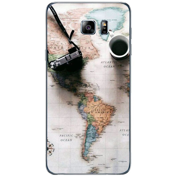 Husă World Maps Travel SAMSUNG Galaxy Note 5-Guardo.shop-Guardo.shop
