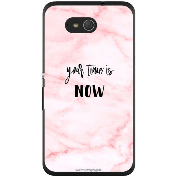 Husă Your Time Is Now Pink Background Sony Xperia E4g E2003-Guardo.shop-Guardo.shop