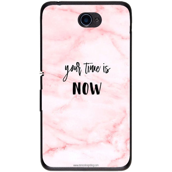 Husă Your Time Is Now Pink Background Sony Xperia E4 E2104 5-Guardo.shop-Guardo.shop