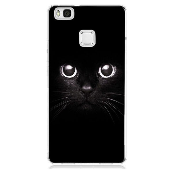 Husă Black Cat Big Eyes HUAWEI P9-Guardo.shop-Guardo.shop
