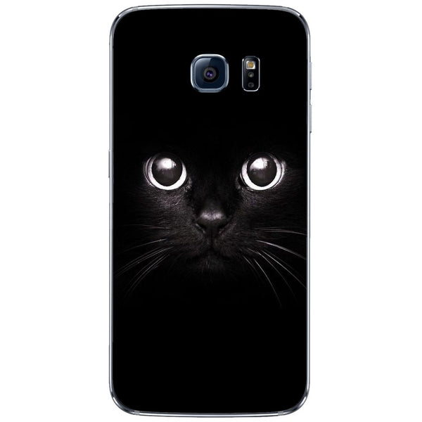 Husă Black Cat Big Eyes SAMSUNG Galaxy S6 Edge
