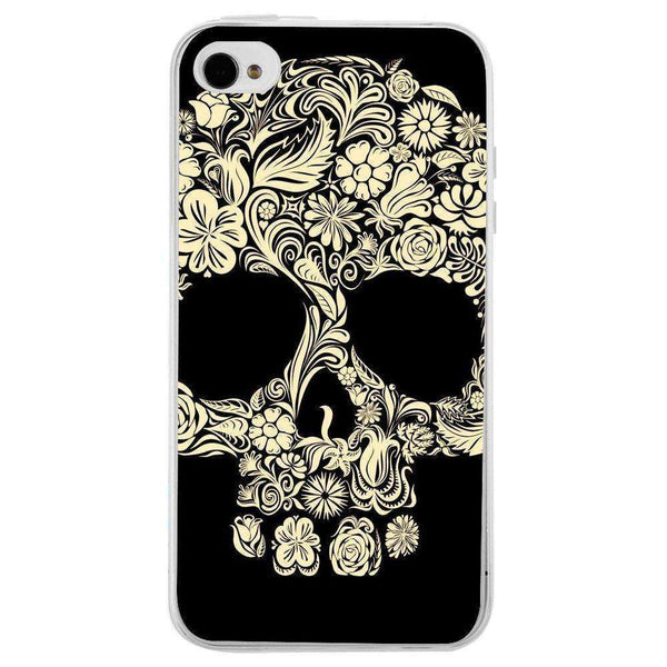 Husă Flower Skull APPLE Iphone 4s-Guardo.shop-Guardo.shop