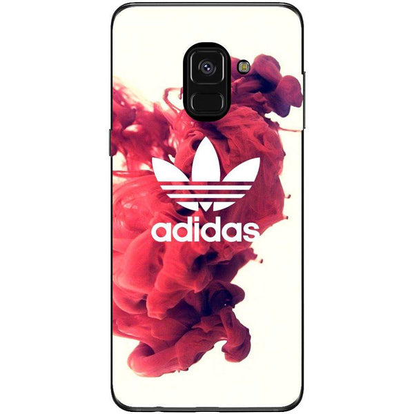 Husa Adidas red smoke background Samsung Galaxy A8 2018-Guardo.shop