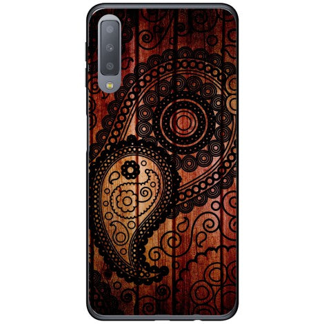 Husa Black wooden pattern Samsung Galaxy A7 2018