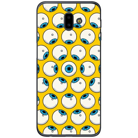 Husa Cartoon eyes yellow pattern Samsung Galaxy J6 2018 Plus