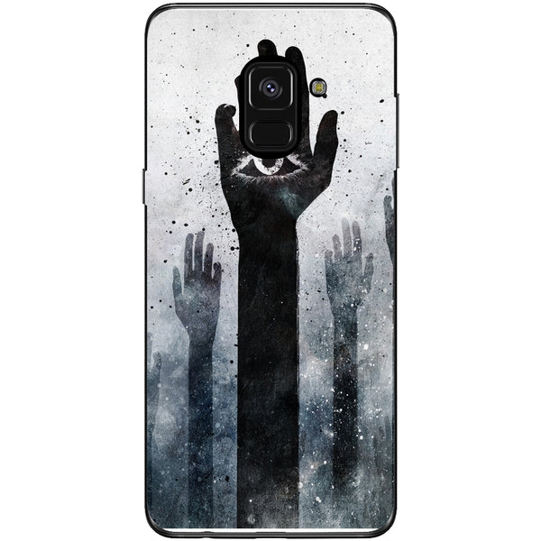 Husa Dark illuminati hands Samsung Galaxy A8 2018-Guardo.shop