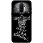 Husa Dark minimal skull Never retreat Never Surrender Samsung Galaxy A6 PLUS 2018-Guardo.shop