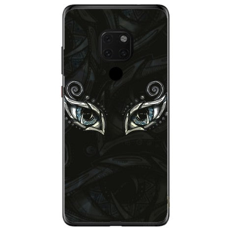 Husa Eyes doodles art Huawei Mate 20