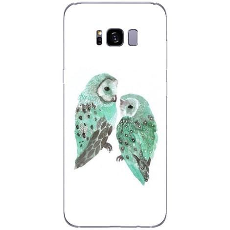 Husa Peacock owl abstract blue Samsung Galaxy S8-Guardo.shop-Guardo.shop