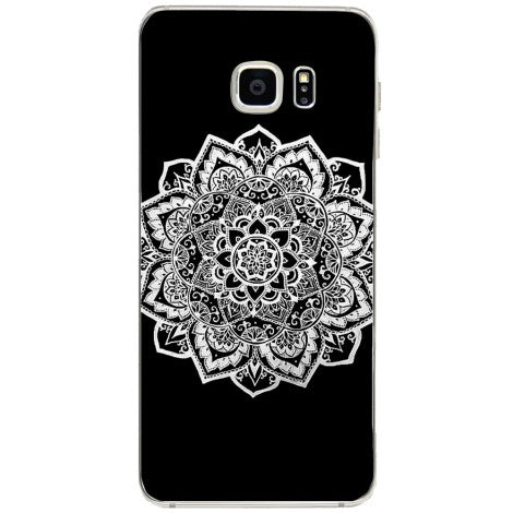 Husa Plain white mandala Samsung Galaxy S6 Edge Plus-Guardo.shop-Guardo.shop